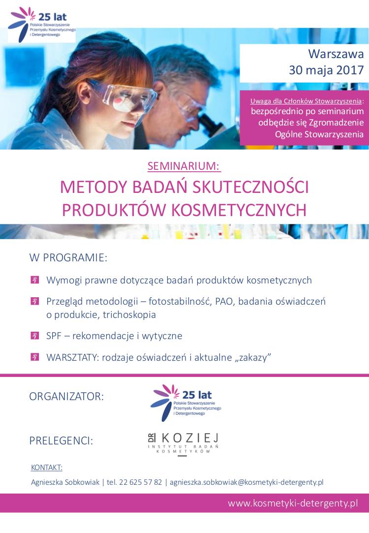 Zaproszenie na seminarium, 30 maja 2017
